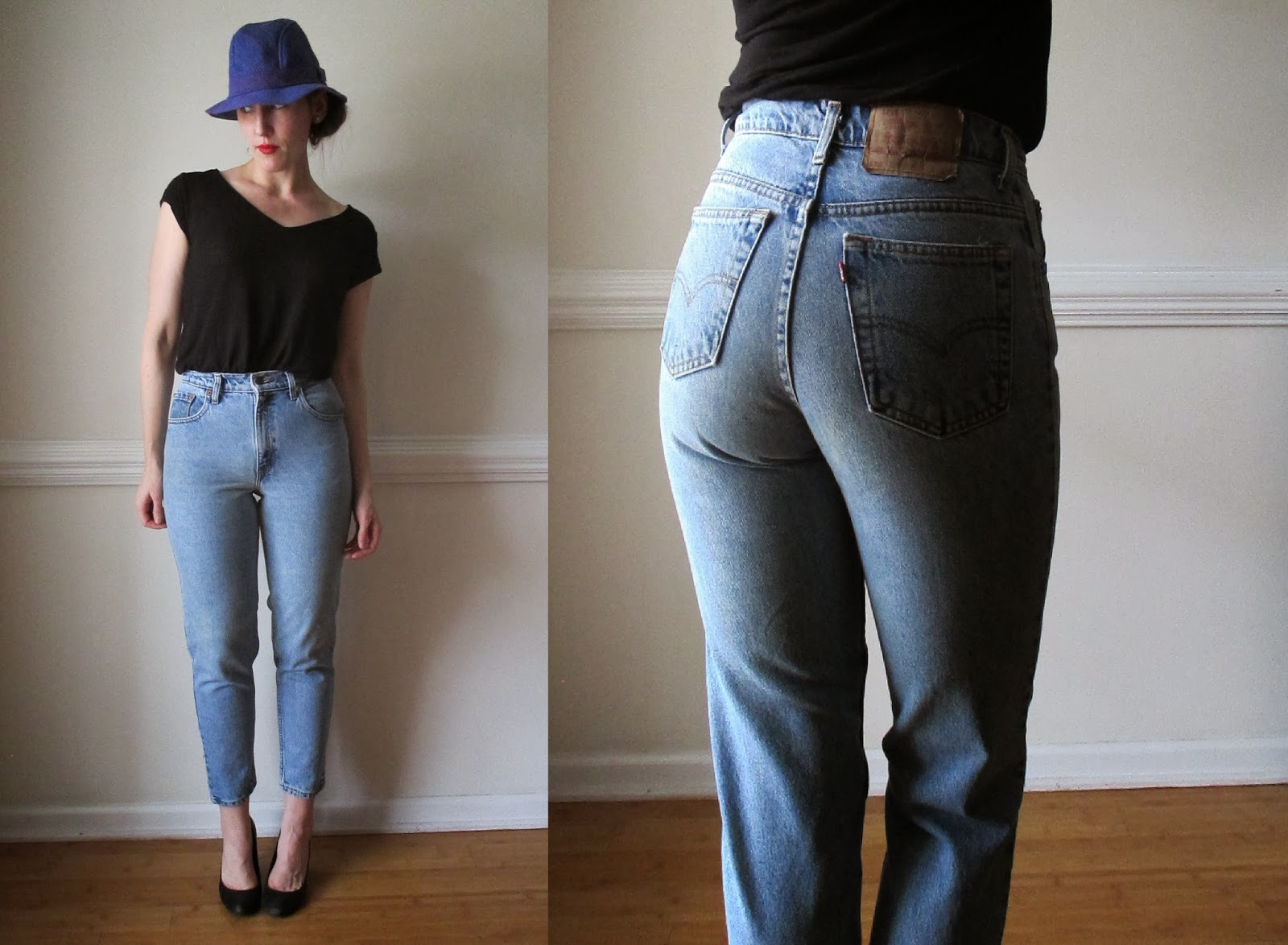 80s high waisted jeans light blue wash 1980s levis 501 tapered high waist vintage mom jeans